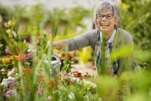 woman in garden during spring